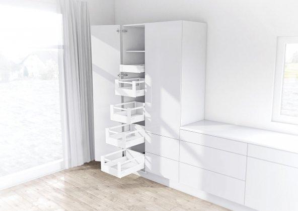 Blum Tandembox Antaro İç Çekmece Rayı, Yüksek Bordürlü, Gri 45 cm