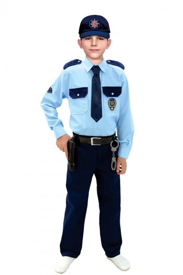 Türk Polis Kostümü Çocuk Kıyafeti
