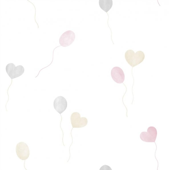 Milky Baby 432-1 Pastel Balon Desenli Duvar Kağıdı
