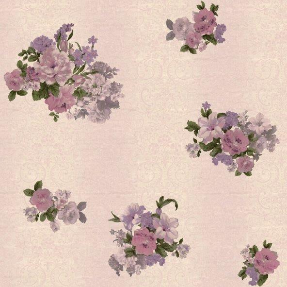 Truva 8603-4 Çiçek Motifli Duvar Kağıdı