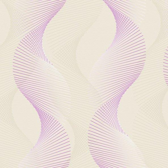 Truva 8605-2 Lila Modern Desenli Duvar Kağıdı