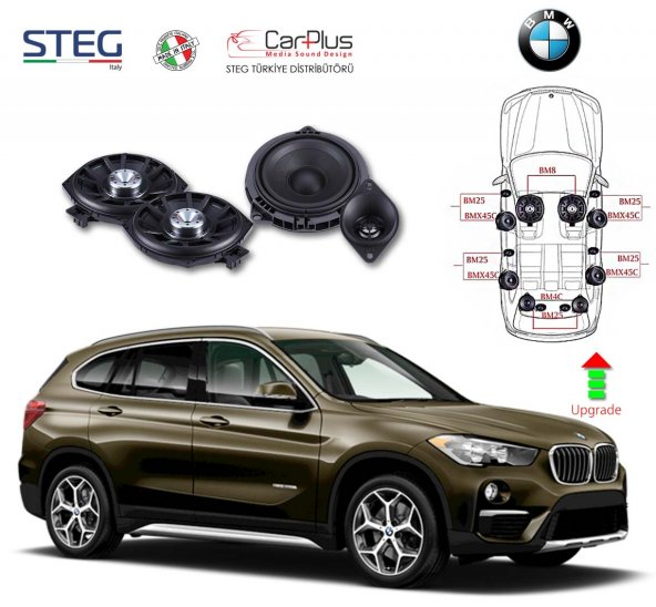BMW X1 Serisi STEG İtaly Hoparlör Kiti