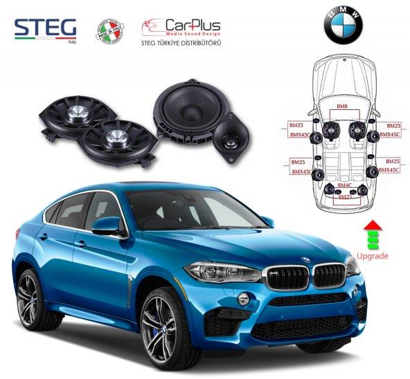 BMW X6 Serisi STEG İtaly Hoparlör Kiti