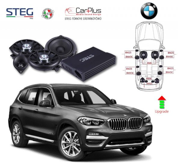 BMW X3 Serisi STEG Italy Sound System FULL PAKET
