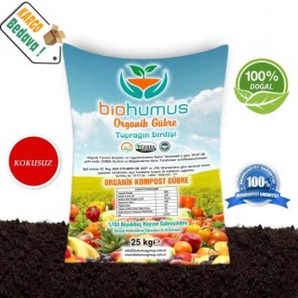 Biohumus Organik Bitki Besin Gübresi 25 Kg TEKLİ (62,5 Litre)