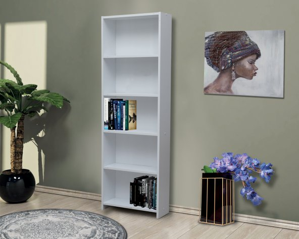 Nesse Shop Kitaplık 5 Raflı Modüler ve Kullanışlı