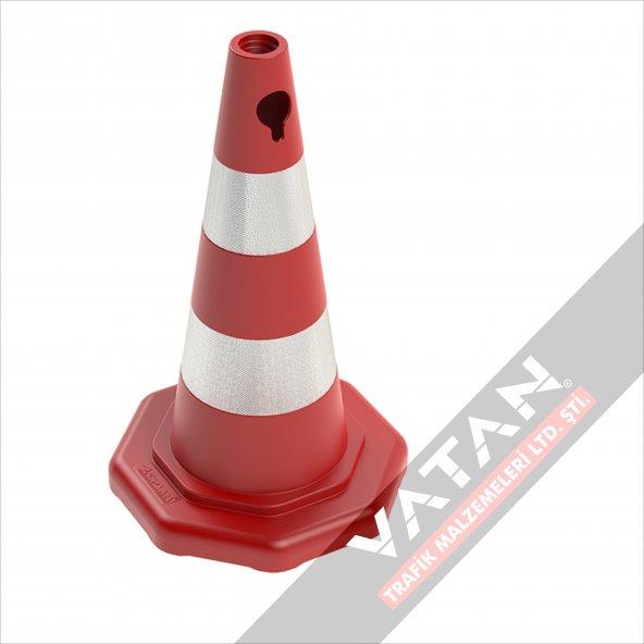 Reflektörlü Trafik Konisi 50 cm