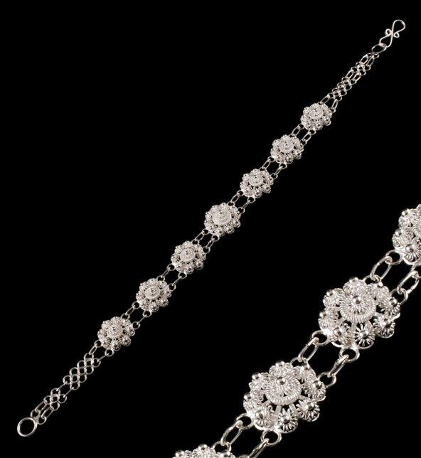 Bereket Modeli Telkari Gümüş Bileklik