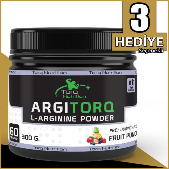 Torq Nutrition ARGITORQ L-Arginine Powder 300 Gr - 60 Servis - Karışık Meyve Aromalı Amino Asit