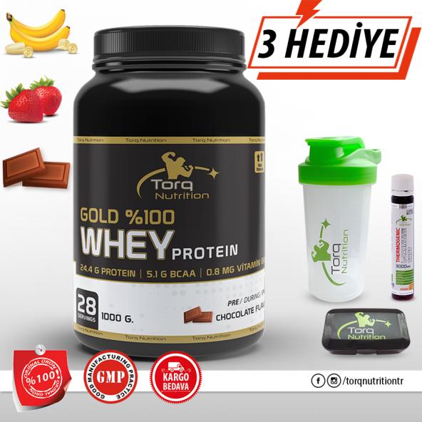 Torq Nutrition Gold %100 Whey Protein Tozu 1000 Gr 3 Aroma Seçeneği