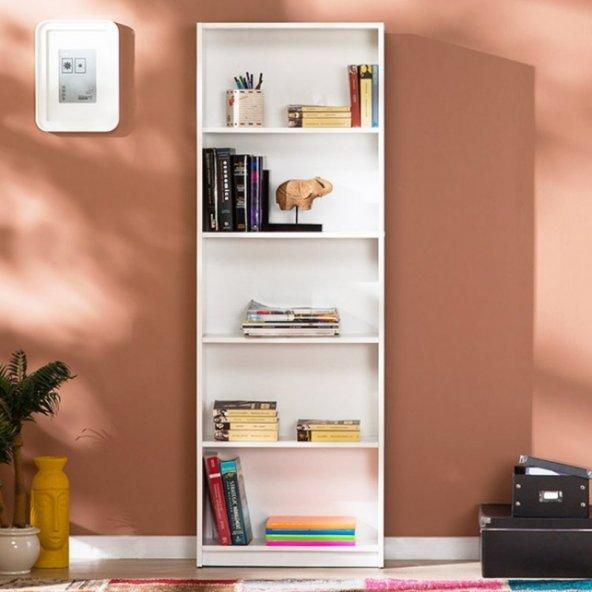 Adore Max 5 Raflı Kitaplık - Beyaz