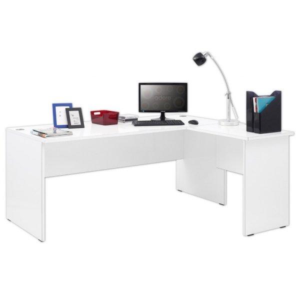 Adore New York L Ofis Masası - Lake Beyaz