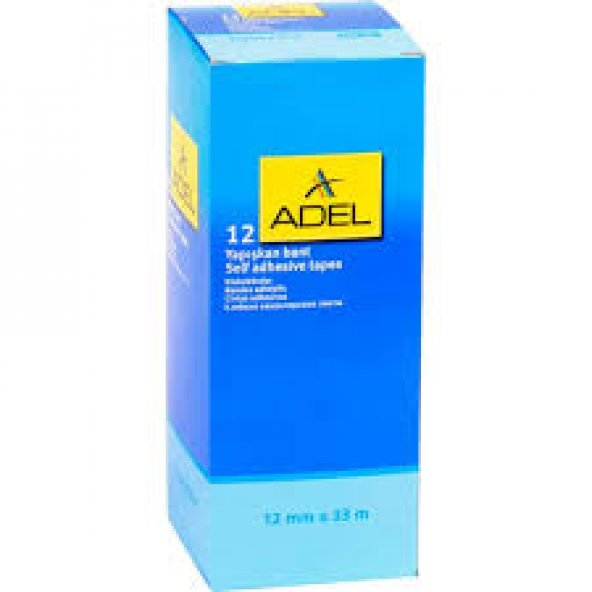 Adel 12 X 33 Mt Kırtasiye Bandı - Yapışkanlı - Şeffaf 12'Li