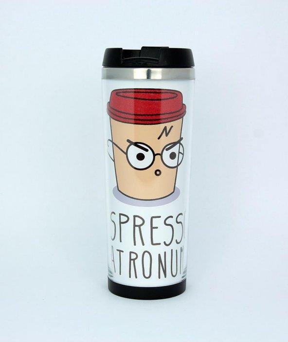 Espresso Patronum Baskılı Termos Bardak