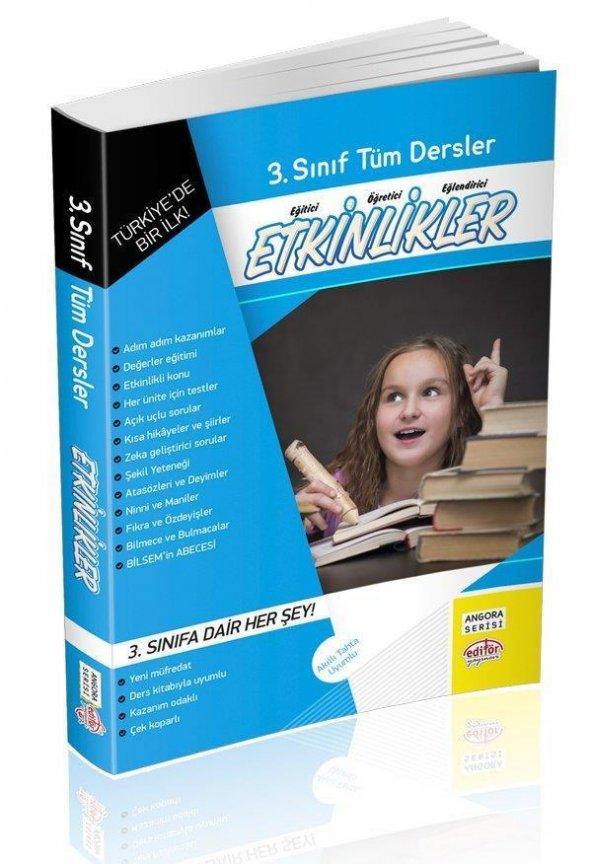 3.Sınıf Tüm Dersler Etkinlikler Kitabı Editör Yayınları