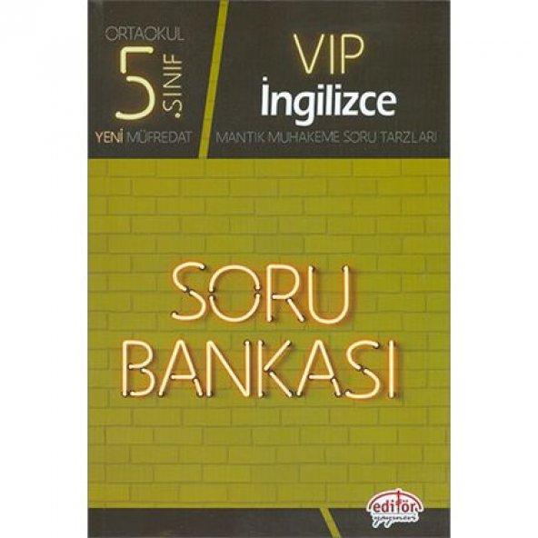 Editör 5.Sınıf VIP İngilizce Soru Bankası