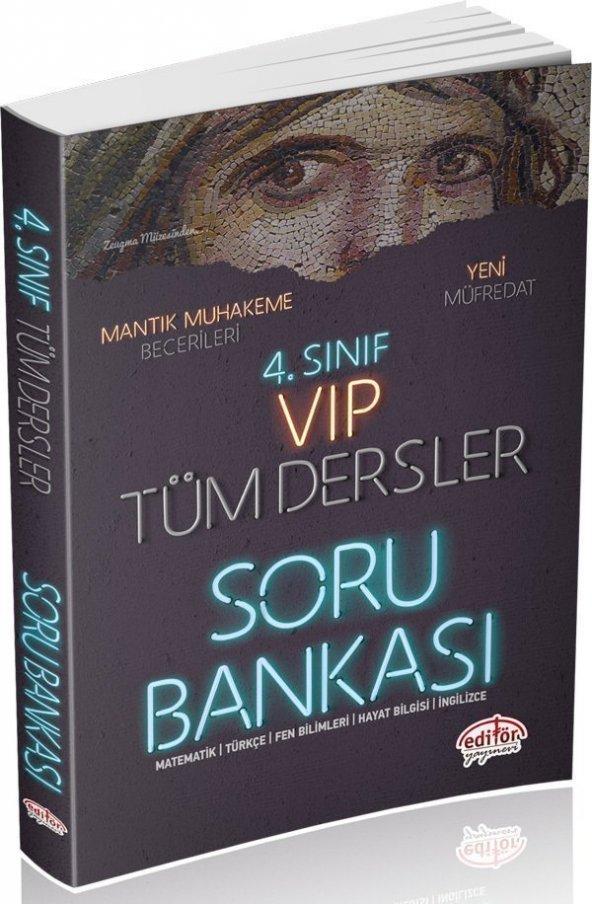 4.Sınıf Vıp Tüm Dersler Soru Bankası Editör Yayınları