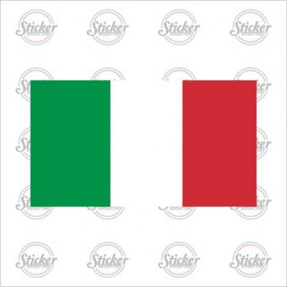 İtalya Bayrağı Sticker - 18011
