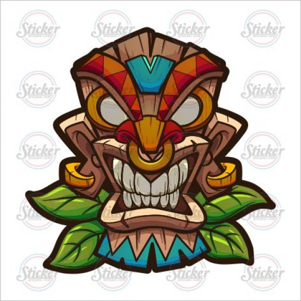 Tiki Mask Sticker - 20113
