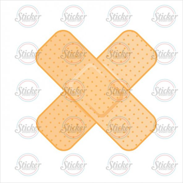 Çapraz Sarı Yarabandı Sticker - 20020