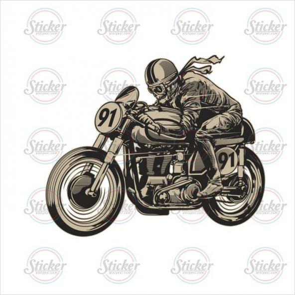 Kurukafa Cafe Racer Sticker - 14086