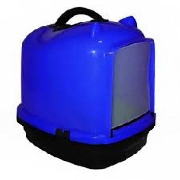 Kapalı kedi tuvalet kabı 49.5*40*50 cm Mavi