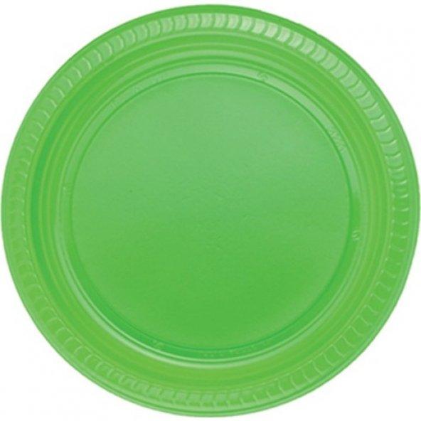 Tabak 22 cm Yeşil 25Li Paket