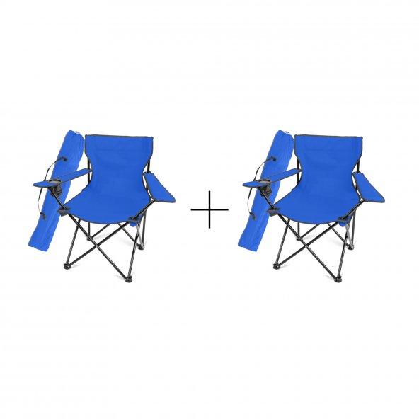 İkili Katlanır Kamp Plaj Sandalyesi