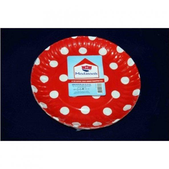 Karton Tabak 18 Cm 6 Lı Kırmızı Puantiyeli 11829