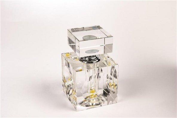 Kare Kristal Şişe 12cm