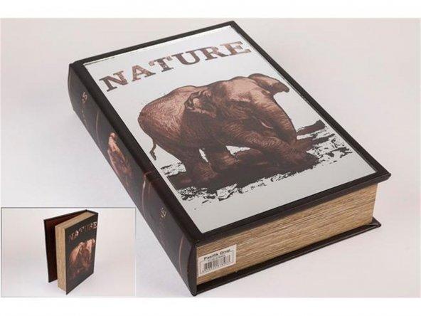 Fil Kitap Şek Aynalı Kutu 33x22cm