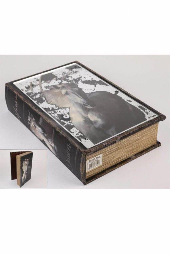 Beyaz At Kitap Şek Aynalı Kutu 33X22Cm