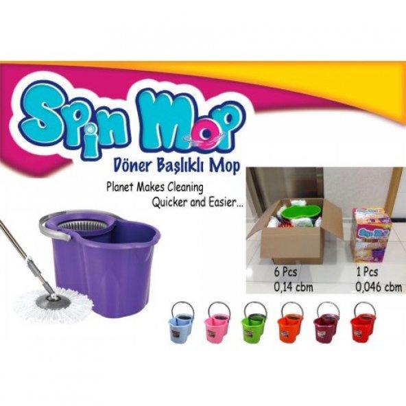 Spin Mop Döner Başlıklı Spin Mop Temizlik Paspas Seti