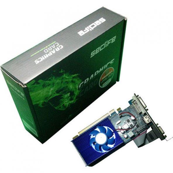 Seclife 2GB Radeon HD 6450 DDR3 64 Bit HDMI DVI VGA LP Single Fan