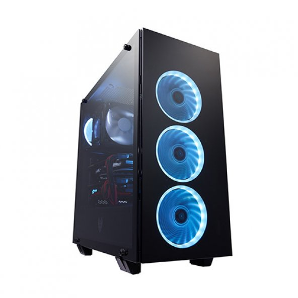 FSP CMT510 PSU Yok Mid Tower Gaming Kasa 3X120CM RGB LED Fanlı