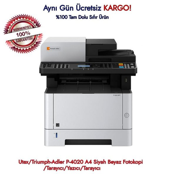 Utax/ P-4020 A4 Siyah Beyaz Fotokopi/Tarayıcı/Yazıcı/Tarayıcı
