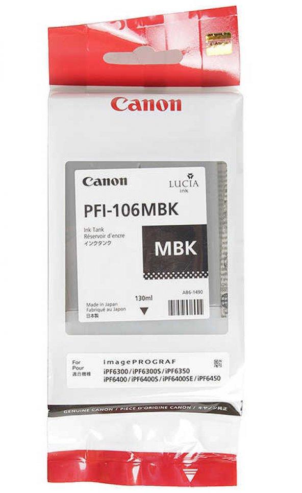 Canon PFI-106MBK Mat Siyah Orjinal Kartuş