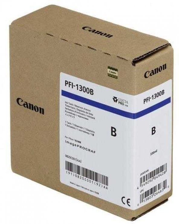 Canon PFI-1300B Blue Orjinal Kartuş
