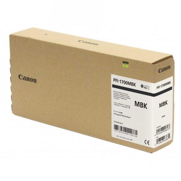 Canon PFI-1700MBK Mat Siyah Orjinal Kartuş