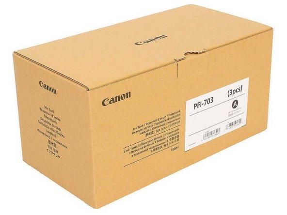 Canon PFI-703MBK Mat Siyah Kartuş 3lü Paket
