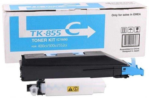 Kyocera TK-855 Mavi Orjinal Fotokopi Toneri