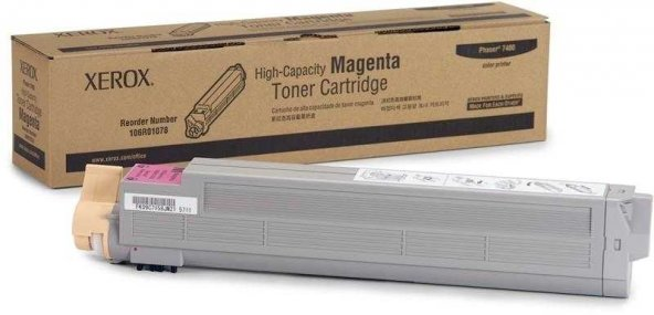 Xerox Phaser 7400-106R01078 Kırmızı Orjinal Toner Yüksek Kapasiteli