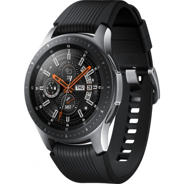 Samsung Galaxy Watch (46mm) (Android ve iPhone Uyumlu) Gümüş - SM-R800NZSATUR (Samsung Türkiye Garantili)