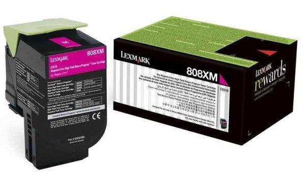 Lexmark CX510-80C8XM0 Kırmızı Orjinal Toner Extra Yüksek Kapasiteli