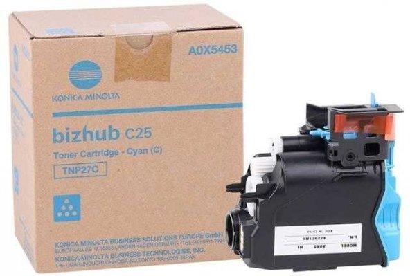Konica Minolta TNP-27 Mavi Orjinal Fotokopi Toner
