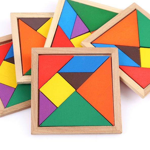 ahşap renkli tangram