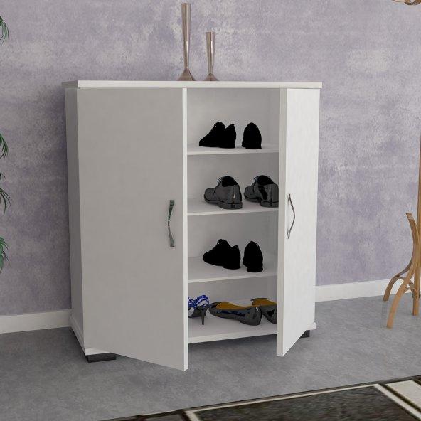 Ayakkabılık 4 Raflı Beyaz
