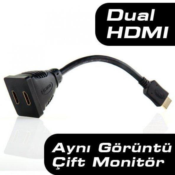 DARK 2 Port Splitter Adaptör HDMI Çoklayıcı DK-HD-AMX2F