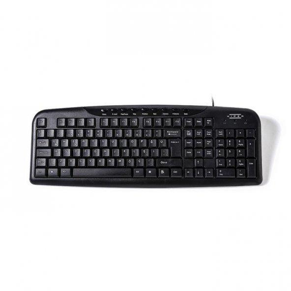 HIPER KM-4000 USB Siyah Multimedya Klavye KM-4000