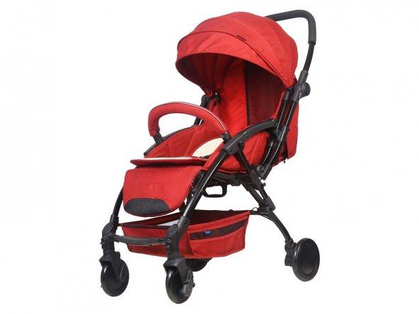 Babyhope BH-3075 Lavida Çift Yönlü Puset - Kırmızı